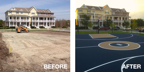 Basketball Court Builders In Pennsylvania, USA