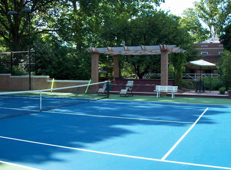Clay hard and synthetics tennis court design and for Build your own basketball court